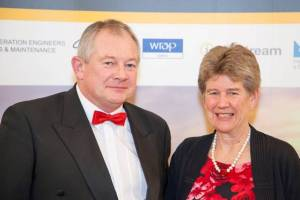 Tim Williams is pictured with the Welsh Minister for Finance, Jane Hutt AM